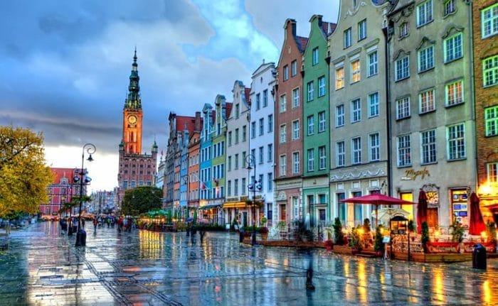 Plaza de la Vieja Ciudad de Gdansk