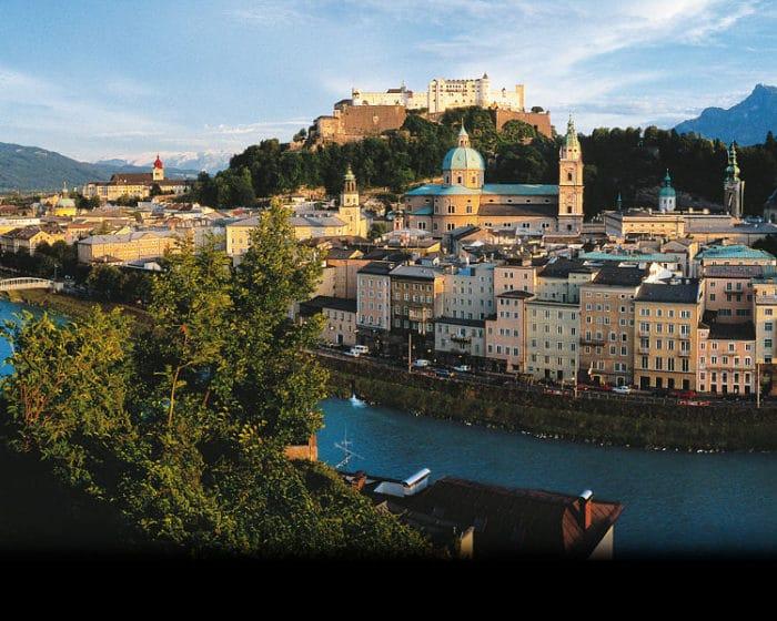 Vista panorámica de una sección de la ciudad de Salzburgo