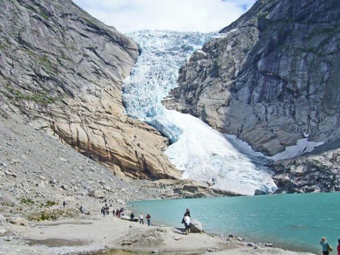 Vista de parte del Glaciar Jostedalsbreen