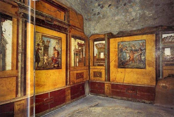 Parte de los frescos que se encuentran en la Casa Vettii
