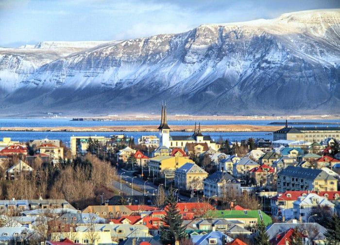 Vista de la ciudad de Reykjavik