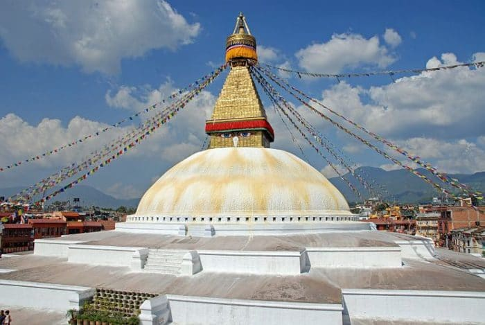 Templo de Boudhanath en Katmandú