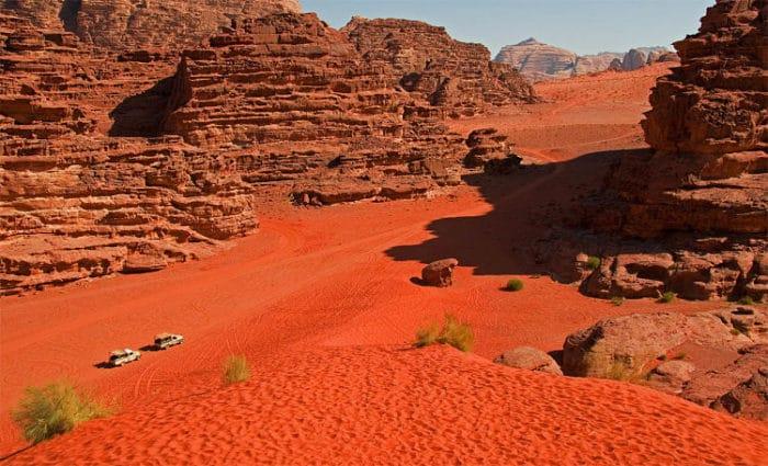 Impresionante paisaje de Wadi Rum