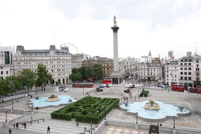 Imagen panorámica de la Plaza Trafalgar
