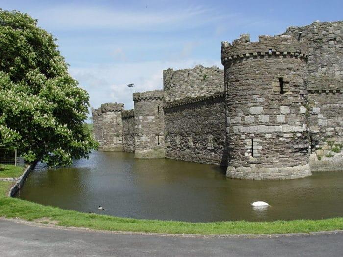 Parte de la estructura del Castillo Beaumaris