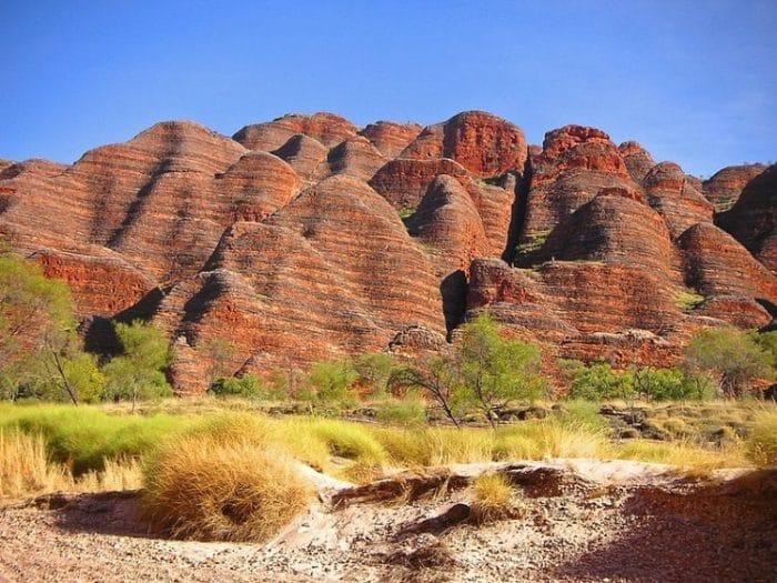 Hermosas montañas de Bungle Bungle Range en Australia