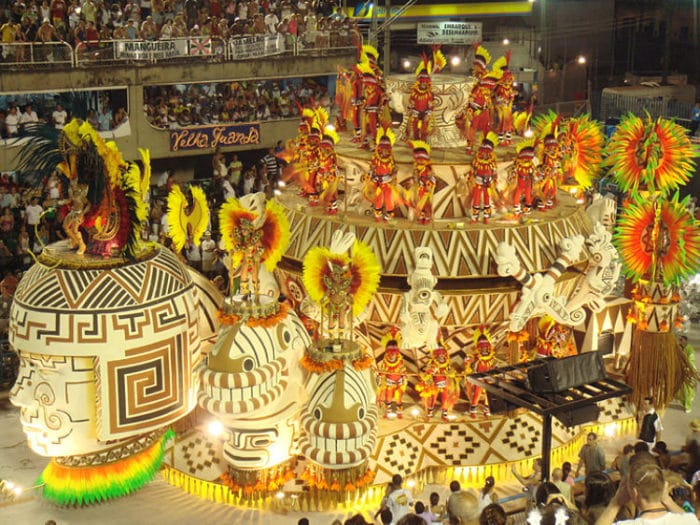 Carroza del Carnaval de Río de Janeiro