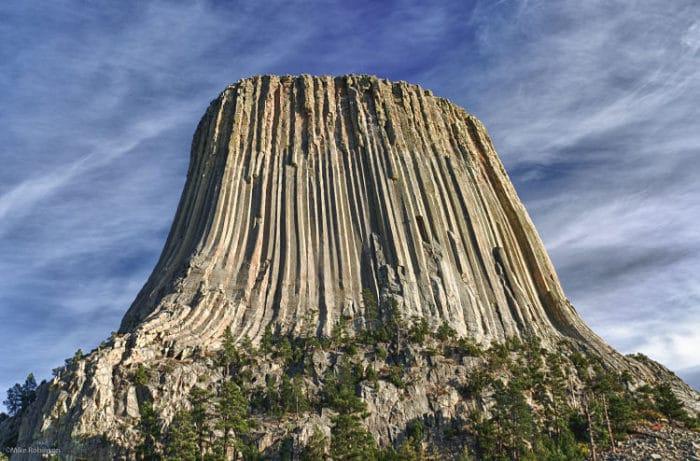 Impresionante formación conocida como Torre del Diablo