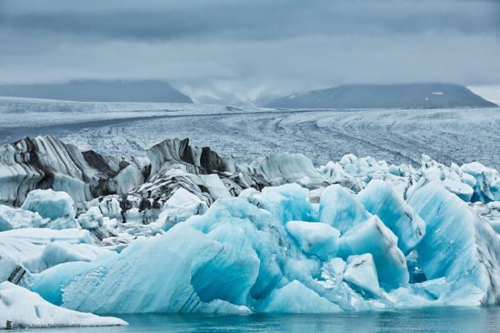 Parte del imponente escenario del Glaciar Vatnajökull