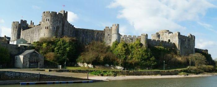Parte del complejo del Castillo Pembroke