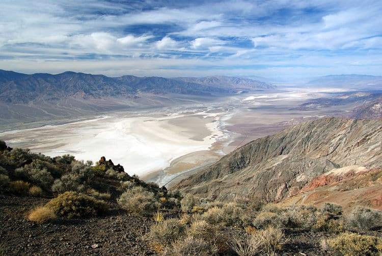 Impresionante Vista de Dante en el Valle de la Muerte