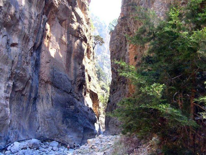 Parte del recorrido por la Garganta de Samaria