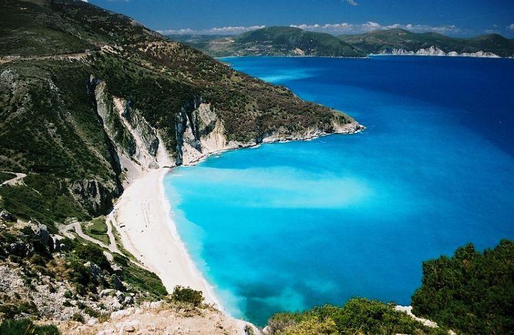 Los hermosos colores de la Playa Myrtos