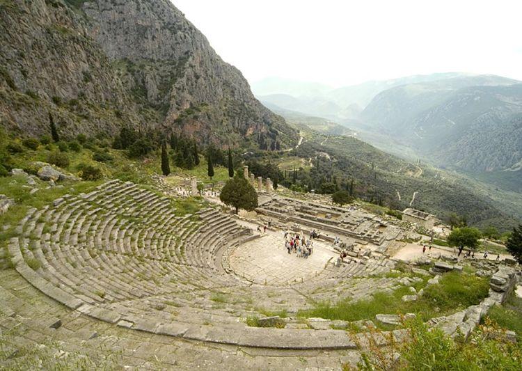 Ruinas del Teatro de Delphi