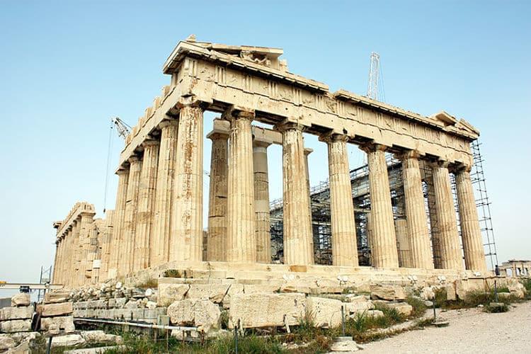 Las ruinas del Partenón