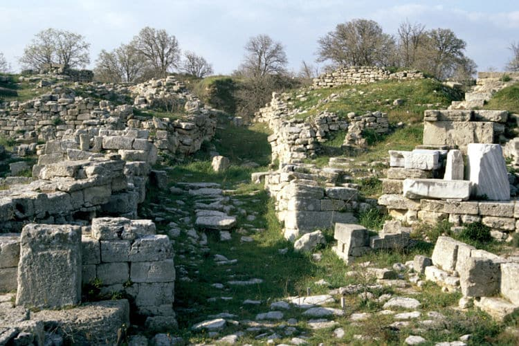 Ruinas de la legendaria ciudad de Troya