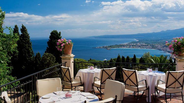 Vista desde la terraza del Grand Hotel Timeo