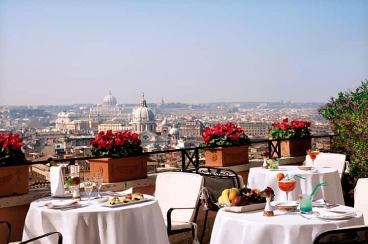 Vista desde la terraza del Hotel Hassler