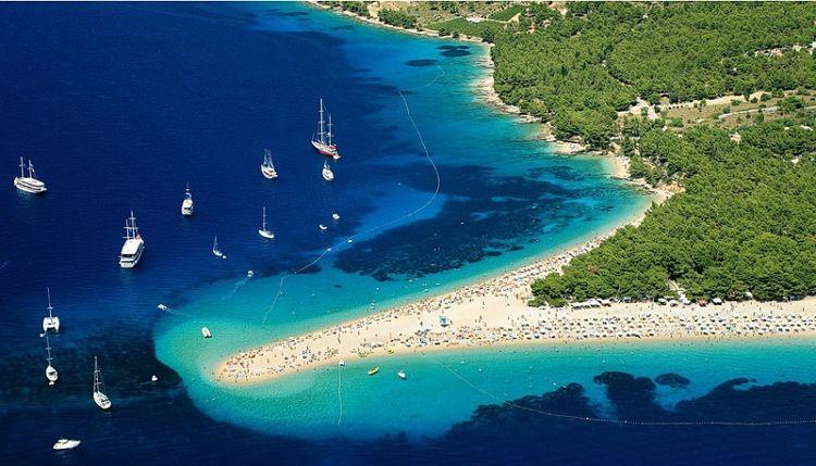 Zlatni Rat, una de las playas más fotografiadas de Europa se encuentra en Croacia