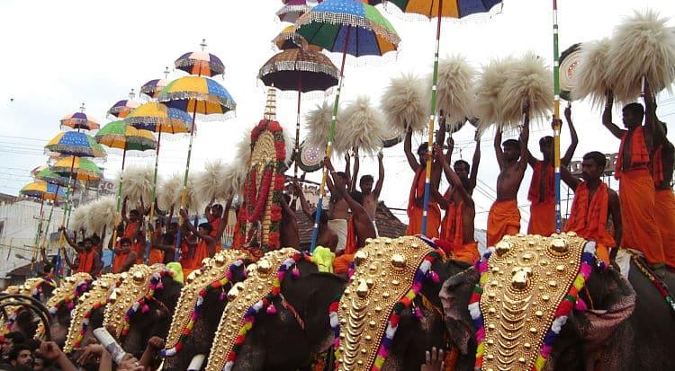 Festival del elefante Thrissur Pooram