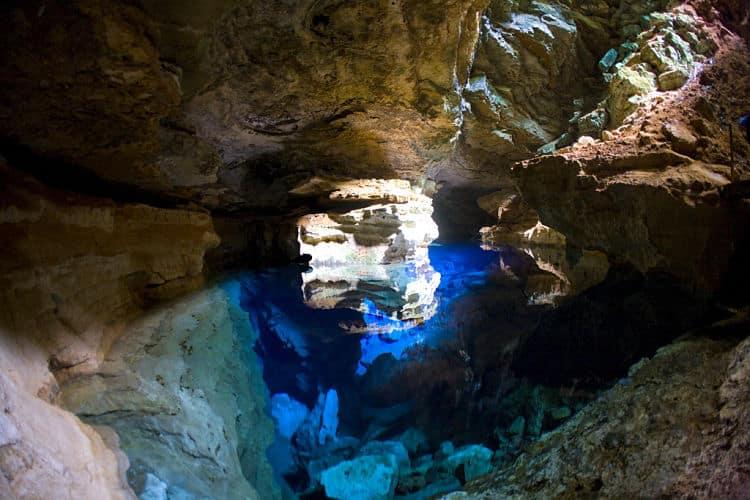 Una de las impresionantes formaciones rocosas del Parque nacional Chapada Diamantina