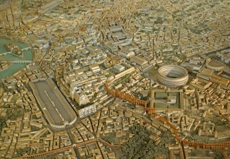 Modelo a escala de la Roma Antigua en el Museo de la Civilización Romana