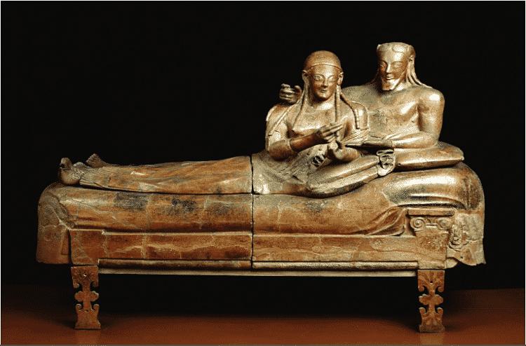 Sarcofago degli Sposi en el Museo Nacional Etrusco