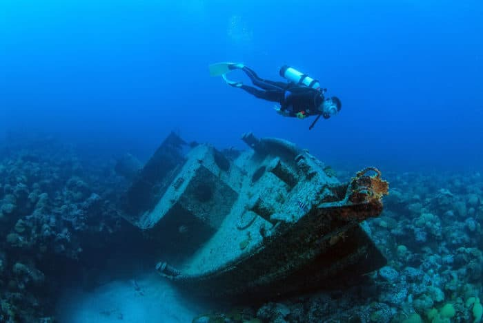 Buceo en naufragios