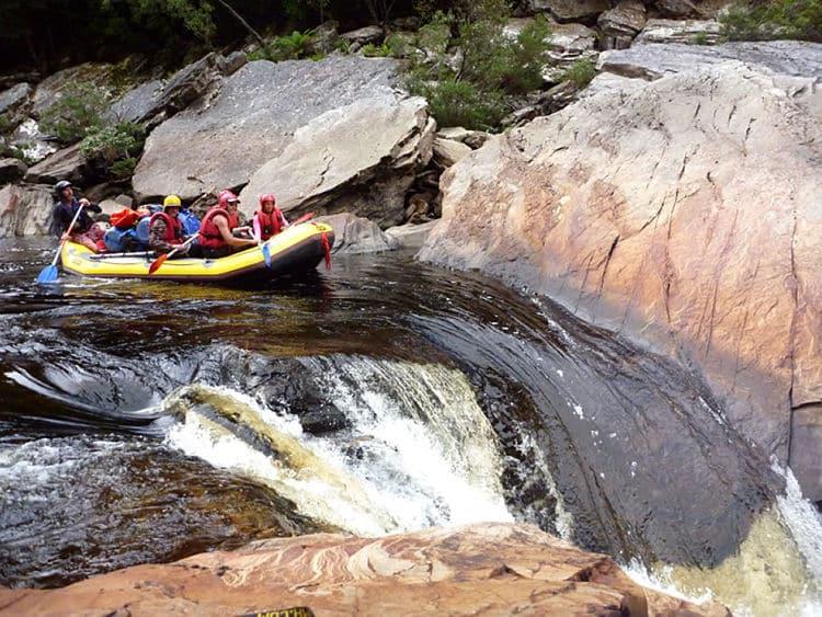 Rafting en el Río Franklin