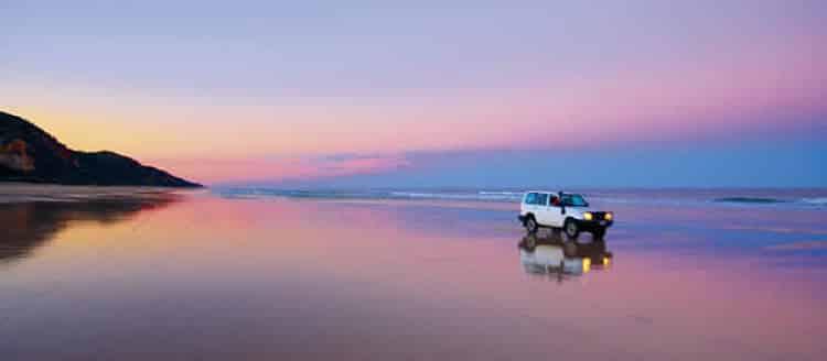 Vehículos rústicos en la Isla Fraser