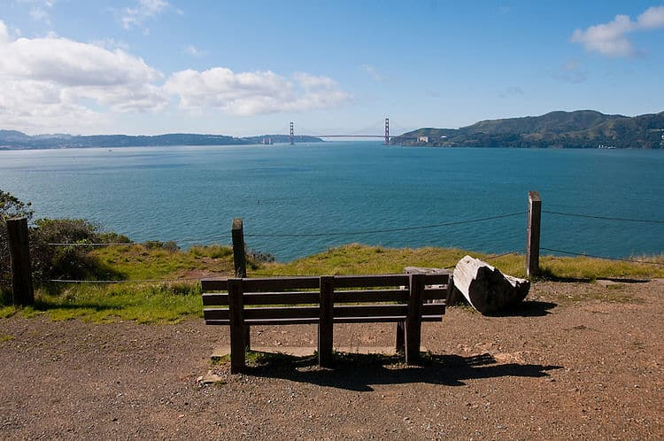 Vista del Golden Gate desde Angel Island