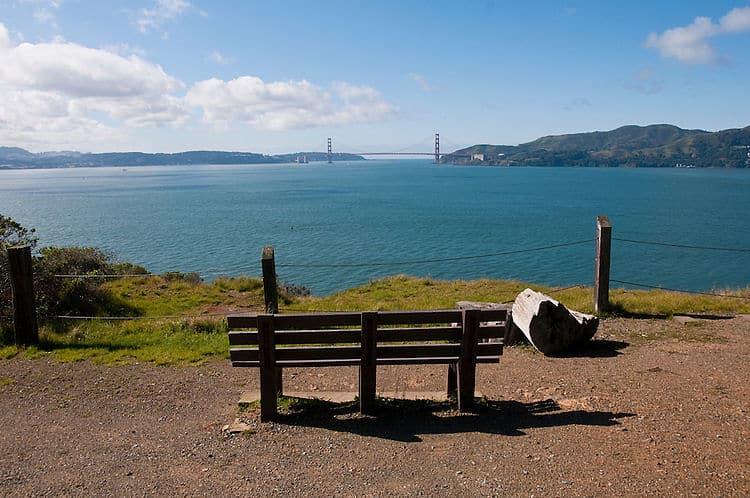 Vista del Golden Gate desde Angel Island