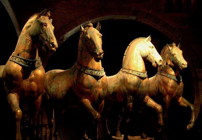 Caballos originales en el Museo de San Marcos