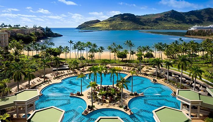 Kauai Marriott Resort en la playa de Kalapaki