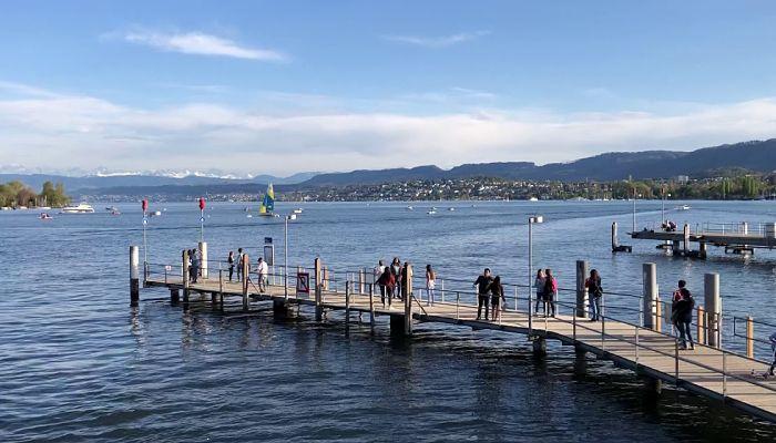 Lago Zürich y Bürkliplatz