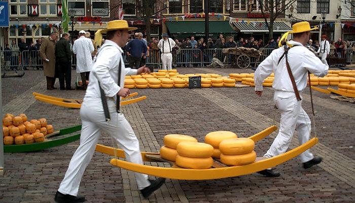 Mercado de queso Alkmaar